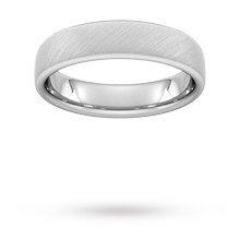 6mm Slight Court Heavy Diagonal Matt Finish Wedding Ring In 950  Palladium